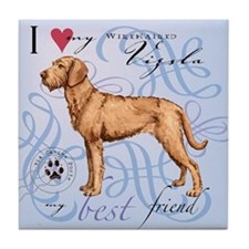 Wirehaired Vizsla Tile Coaster
