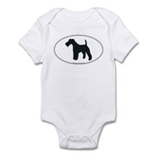 Wire Fox Terrier Silhouette Infant Creeper
