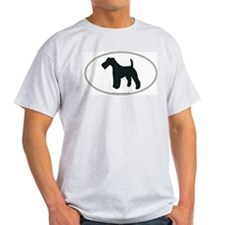 Wire Fox Terrier Silhouette Ash Grey T-Shirt