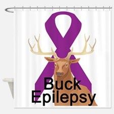 3-buck-epilepsy.png Shower Curtain