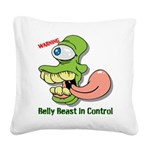 Belly Beast Square Canvas Pillow