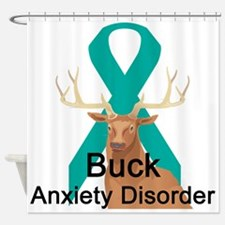 buck-anxiety-disorder.png Shower Curtain