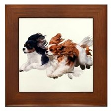 Lily & Rosie, Running Framed Tile
