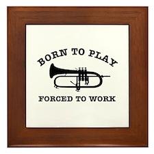 Cool Trumpet gift items Framed Tile