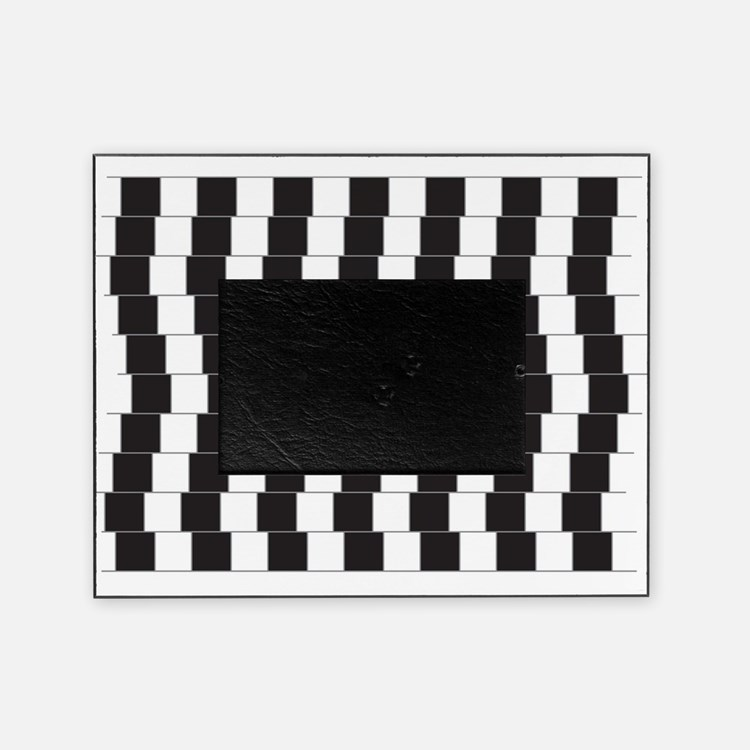 Optical illusion tilted lines Picture Frame