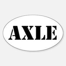 Axle Sticker (Oval)