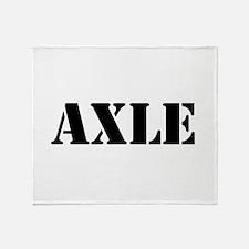 Axle Throw Blanket
