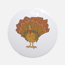 Silly Turkey Ornament (Round)