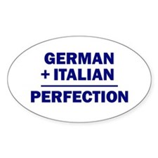 Italian + German Oval Decal