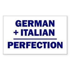 Italian + German Rectangle Decal