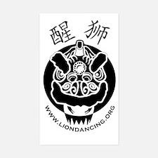 Liondancing.org Logo Rectangle Decal