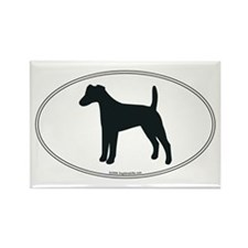 Smooth Fox Terrier Silhouette Rectangle Magnet