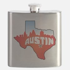 Austin Texas Skyline Flask