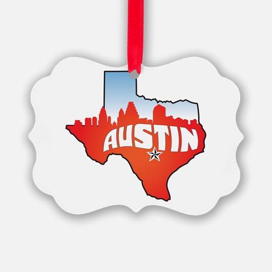 Austin Texas Skyline Ornament