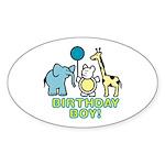 Birthday Boy Oval Sticker