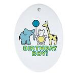 Birthday Boy Oval Ornament