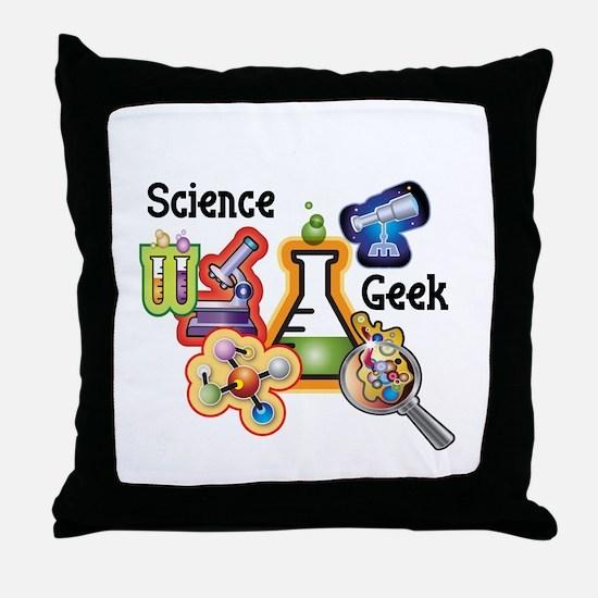 Science Geek Throw Pillow