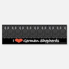 I Love German Shepherds Bumper Bumper Bumper Sticker