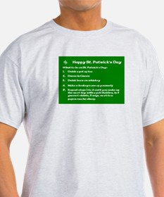 What to do on St. Patricks Day T-Shirt