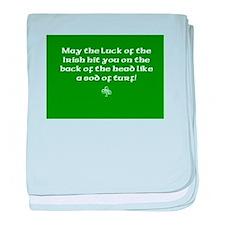 Luck of the Irish...Sod of Turf baby blanket