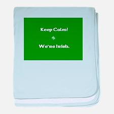 Keep Calm - We're Irish baby blanket