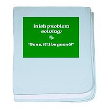 Irish Problem Solving baby blanket