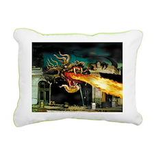 Mutant Dragon Rectangular Canvas Pillow
