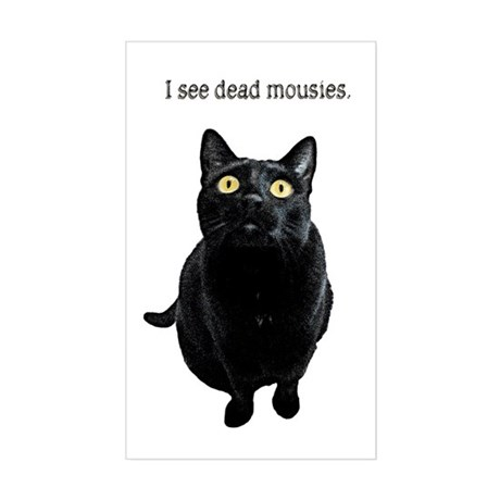 I See Dead Mousies Sticker (Rectangle)