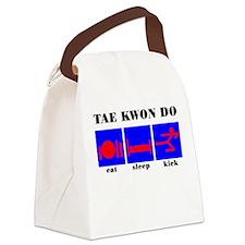 Eat Sleep Kickwt.png Canvas Lunch Bag