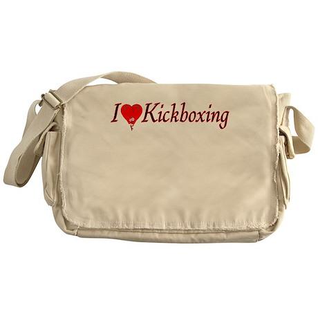 I Heart Kickboxing Messenger Bag