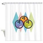 retro-bowling7.png Shower Curtain