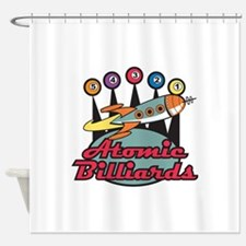 retro-poolhall3.png Shower Curtain