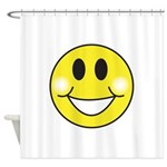 smiley-face.png Shower Curtain