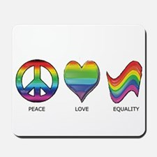 Peace Love Equality Mousepad