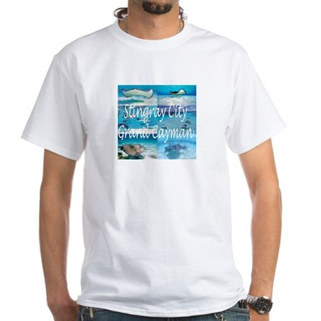 scuba diving stingray city grand cayman white t shirt