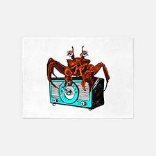 Crab Radio 5'x7'Area Rug