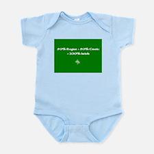 50% rogue+50% craic=100% Irish Infant Bodysuit