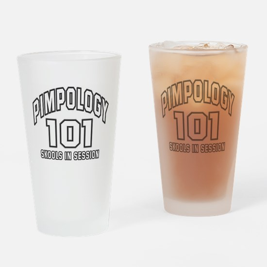 Pimpology 101 Drinking Glass