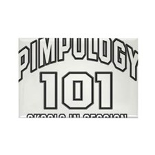 Pimpology 101 Rectangle Magnet
