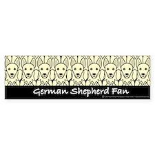 German Shepherd Fan Bumper Bumper Sticker