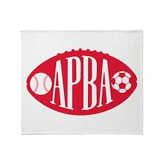 APBA logo Throw Blanket