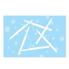 Bassoon Snowflakes Postcards (Package of 8)