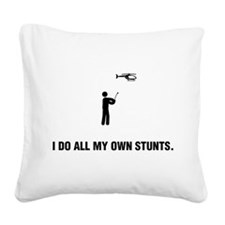 RC Helicopter Square Canvas Pillow