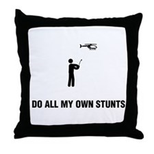 RC Helicopter Throw Pillow