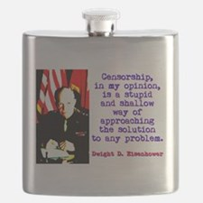 Censorship In My Opinion - Dwight Eisenhower Flask