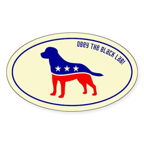 Patriotic Obey the BLACK LAB! Sticker