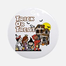 Trick-Or-Treat! Ornament (Round)