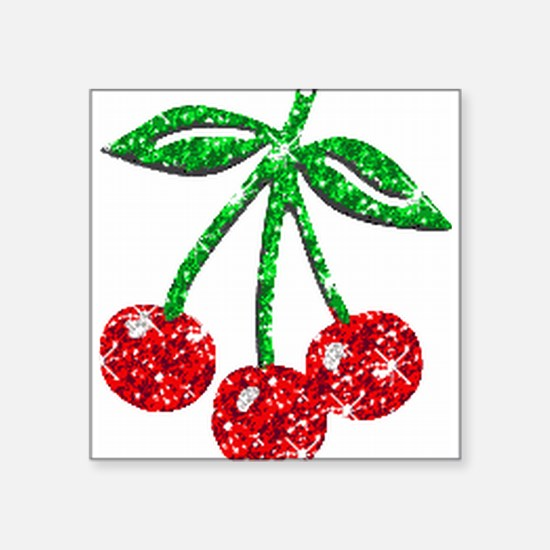 Sparkling Cherries Rectangle Sticker