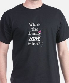 Who's the Bunny Black T-Shirt