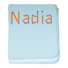 Nadia Pencils baby blanket